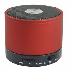 RED BLUETOOTH WIRELESS PORTABLE FM RADIO SPEAKER FOR VARIOUS MOBILE PHONES