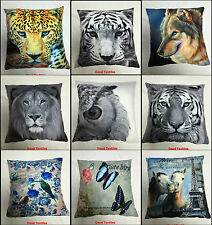 LUXURY ANIMAL 3D PHOTOGRAPH AND PRINTED CUSHION COVERS SOFA BED CUSHION COVERS