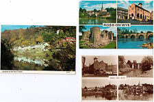 ROSS ON WYE OLD POSTCARDS WYE VALLEY HEREFORDSHIRE ASSORTED