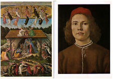 BOTTICELLI ART POSTCARDS VENUS AND MARS PORTRAIT OF A YOUNG MAN ASSORTED