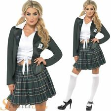 Ladies School Girl St Trinians Uniform Fancy Dress Costume Adult Party Outfit