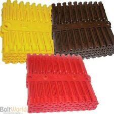 TALON EXPANSION PLUGS / WALL PLUGS DRILL FIXING 5mm Yellow, 5.5mm Red 7mm Brown
