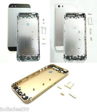 For iPhone 5S Housing Back Body Door Cover Frame Black White Silver Gold Golden