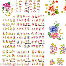 Nail Art Stickers Nail Water Decals Transfers Flowers Floral Roses Gel Polish
