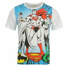 RAGAZZI SUPERMAN BATMAN COSTUME SUPERHERO T-Shirt Maglietta maniche corte ~2-8