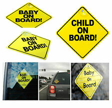BABY ON BOARD CHILD SAFETY SUCTION CUPS CAR VEHICLE SIGNS CHILD ON BOARD (New)
