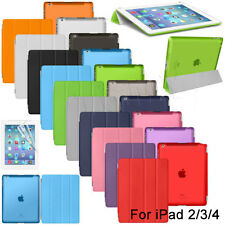 For iPad 2 3 4 Screen Protector Slim Magnetic Smart Cover Case