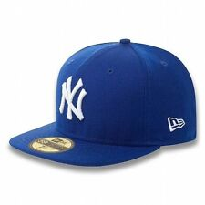 New Era 59 Fifty MLB Basic Neyyan Royal Blue And White Fitted Cap