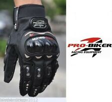 PRO-BIKER MOTO CROSS DIRT MOTO RACING Guanti protettivi NERO BLU SCOOTER