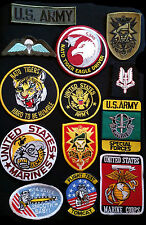 Patches- Military US Army / Navy, British - Fancy Dress Soldier- Mostly Iron-on