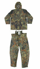 Genuine German Aarmy Flecktarn Camo GoreTex Wet Weather Waterproof 2 Piece Suit