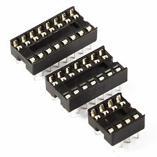 """IC Holder DIL Sockets PCB Low Profile DIP 8 14 16 18 20 24 28 pins 7.62mm 0.3"""""""
