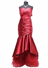 JuJu Christine Langes Satin Damen Abendkleid Ballkleid Mabilia weirot 34 36 3...