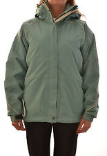 REGATTA LADIES JANA 3 in 1 WATERPROOF COAT ISOTEX GREEN MICROWARMTH WA110 E8
