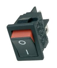 Miniature Single Pole Rocker Switches SPST / SPDT Green or Red Visi Strip