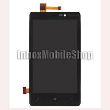Black New LCD Display Touch Screen Digitizer Assembly with Frame Nokia Lumia 820