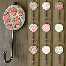 Antique Style Flower Floral Gold Brass Coat Wall Towel Hanger Pegs Hooks