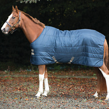 Horseware Mio Stable Rug Lite Weight 150g- Navy/Tan - Stalldecke