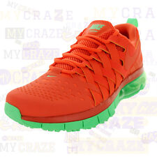 15e228a6a153 NIKE FINGERTRAP AIR MAX NRG TURF ORANGE LIGHT LUCID GREEN MENS SNEAKERS