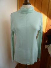 AMERICAN APPAREL FAIR TRADE AQUA SHEER JERSEY TOP TURTLE NECK POLO XL NEW