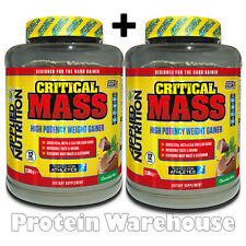 Applied Nutrition Critical Mass Protein 2 x 2.89 Serious Hard Gain OUT OF DATE