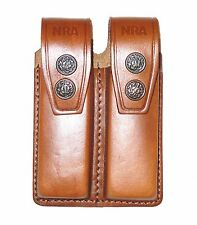 Leather Double Magazine Case 9mm or .40 - (006NRA)