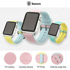 For Apple Watch 38mm 42mm Genuine Baseus Colorful PU Leather Buckle Watchband