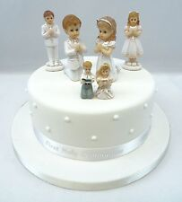 First Holy Communion Girl / Boy Cake Toppers,  Diamante Cross and Ribbon Sets