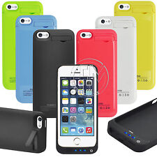 iPhone 5 5S 5C Portable Power Bank Charger External Backup Battery Case 2200mAh