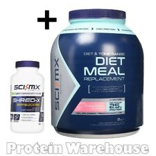 Sci-Mx Diet Whey Pro Meal 2kg + Shred X Rippedcore Shred x 150 Capsules