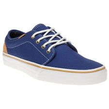 New Boys Vans Blue 106 Vulcanized Canvas Trainers Lace Up