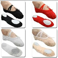 Free P&P New Girls Women Comfortable Canvas Ballet Dance Flat Shoes Size 8-13.5