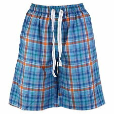 OCTAVE® Mens Checked Woven Lounge Shorts With Pockets & Inner Comfort Waistband