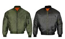 MA1 Mens Army Pilot Biker Bomber Security Fly Military Doorman Harrington Jacket