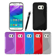 S-Line Silicone Rubber Back Gel Case Cover For MICROSOFT PHONE+Screen Protector
