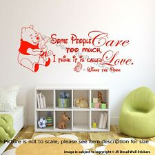 Piglet Pooh Quote Wall stickers Classic Winnie The Pooh Love Nursery Quote Decal