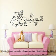 Winnie The Pooh Wall Stickers Personalised Kid's Name Wall Decals Nursery Decor
