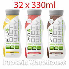 PhD Diet Whey Milk Protein Ready To Drink 330ml Banana OUT OF DATE