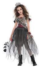 Kids Zombie Prom Queen Girls Halloween Party Fancy Dress Teen Costume Outfit