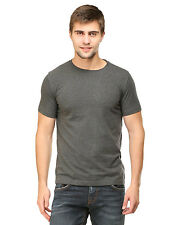 Tee Talkies Solid Men's Round Neck T Shirts - Charcoal