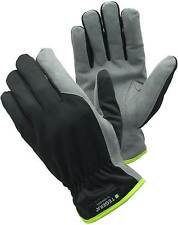 Tegera 322 Black Grey Winter Lined Warm Thermal Leather Work Gloves