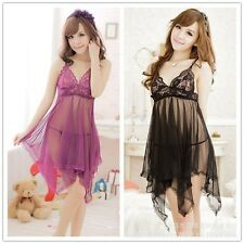Women Lace Sexy Lingerie Nightwear Dress Underwear Babydoll G-String Sleepwear