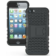 Bumper Case Composite Hard Dual Armor TPU with Stand for Apple iPhone 5 5S