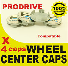 tapas llantas ruedas  wheel center caps 4 METAL STICKERS + 4 CAPS PRODRIVE CROMO