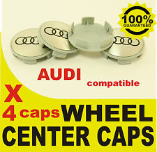 tapas llantas ruedas  wheel center caps 4 METAL STICKERS + 4 CAPS AUDI