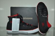 Converse Chuck Taylor All Star Coated Canvas Boys Sneakers 645178F Black/Red NIB