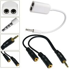3.5MM HEADPHONE ADAPTER JACK TO JACK AUX SPLITTER PLUG FOR VARIOUS MOBILE PHONES