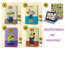 """Despicable Me Minions Leather Case Cover For Samsung Galaxy Tab4 10.1"""" Inch T530"""