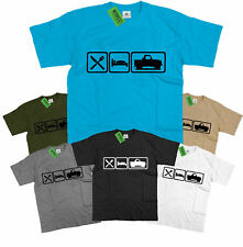 Mens Eat Sleep Land Rover Defender 90 T Shirt Ninety Pick Up Off Road LandRover