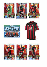 Match Attax 2015/16 Trading Cards. Individual Base Cards AFC Bournemouth 01-18